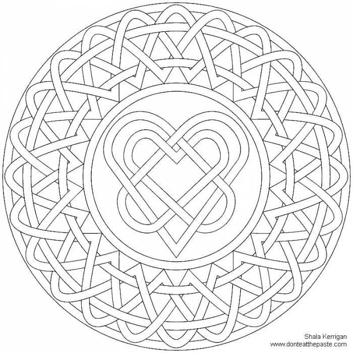 Мандалы для привлечения любви раскраска